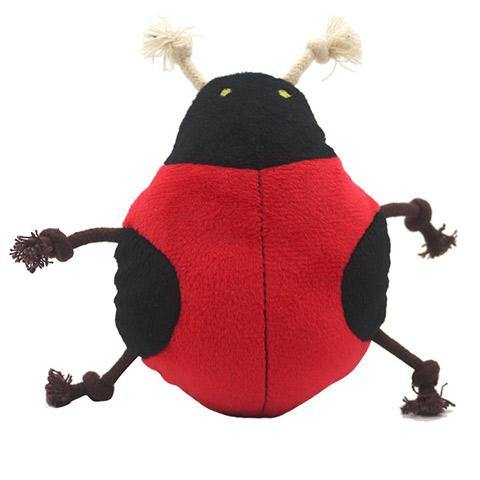 Plush Beetle Squeaky Chewing Toy for Dog