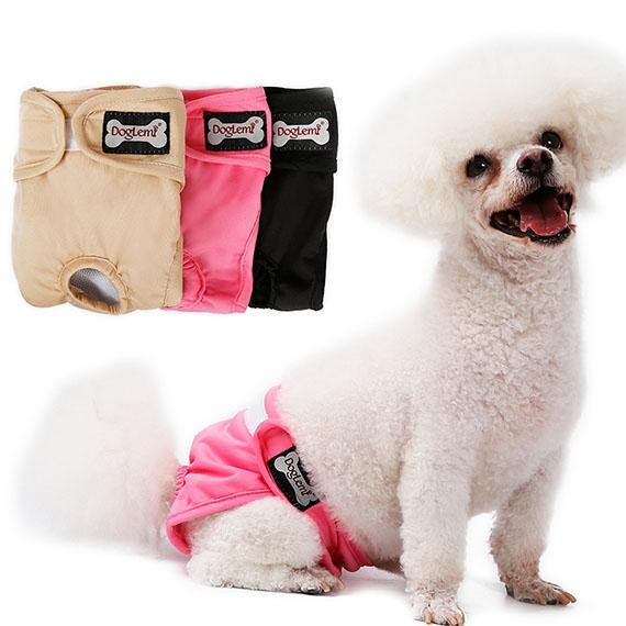 Dog Pants Female Washable Reusable Pet Diaper