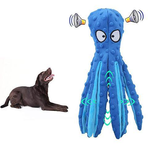 【30% Off】Octopus Squeaky Toy for Dog Plush Dog Chew Toy