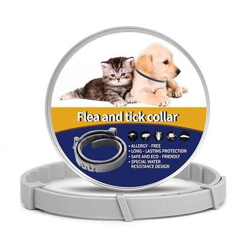 Flea and Tick Collar for Dogs & Cats, Natural & Hypoallergenic, 8 Month Protection