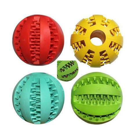 Pet Toy Leaking Food & IQ Treat Ball for Dogs/Cats, Teeth Bite-Resistant & Mint flavor