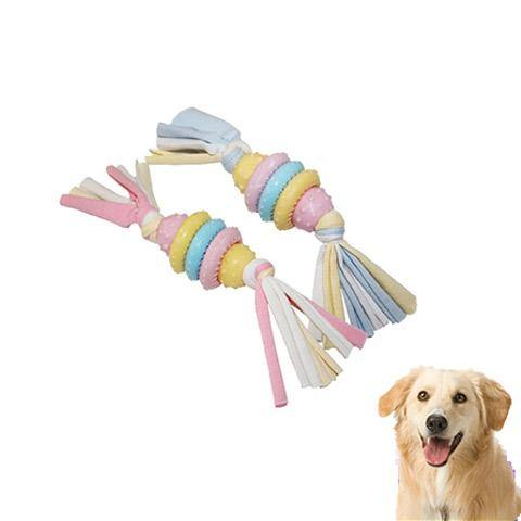 Colorful Dog chewing Ball Toys with Rope