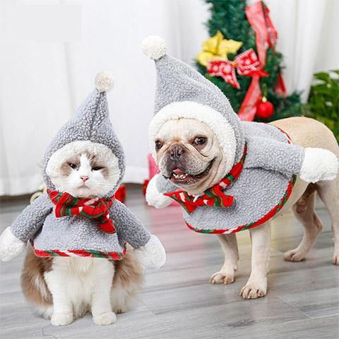 Dog Cat Christmas clothes Pet dog winter clothes pet costumes