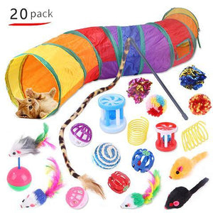 Cat Toy Set Cat Tunnel Feather Teaser