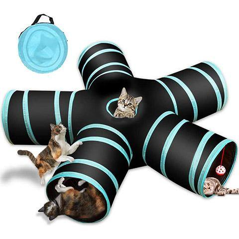 5 Way Collapsible Cat Tunnel Tube Toy