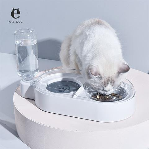 Leak Proof Pet Water Bottle with Double Bowls