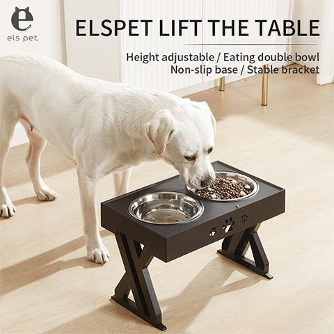 Adjustable Elevated Two Stainless Steel Pet Bowls