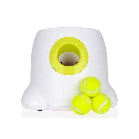 Automatic Ball Launcher Dog Toy, Mini Tennis Ball Throwing Machine for Dogs