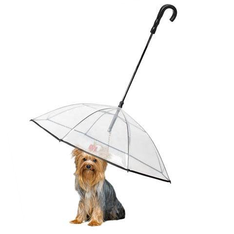 Dog Pet Umbrella for Small Dogs Pet Umbrella With Leash Holder
