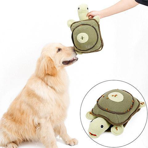 Dog Vocal Stuffed Turtle Leaking Toy