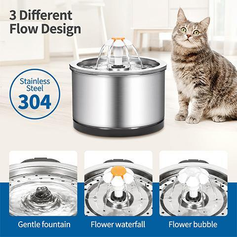 Dog Cat 304 Steel Automatic Drinking Water Fountain