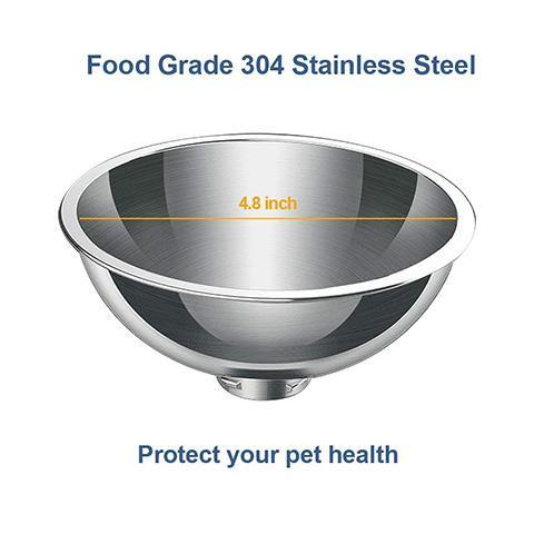 Elevated 15° Tilted Stainless Steel Cat Bowls