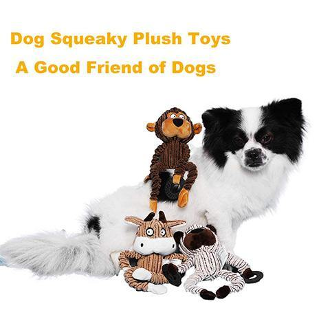 Cute Plush Stuffed Squeaky Dog Toys