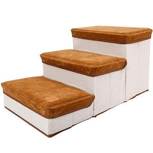 Foldable Pet Stairs Dog 3 Steps Storage Box