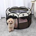 Load image into Gallery viewer, Pet Portable Foldable Playpen & Carrying Case, Water-resistant & Indoor/Outdoor Usage for Dog & Cat