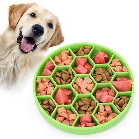Slow Feeder Dog Bowl with Non-Slip Suction Cup