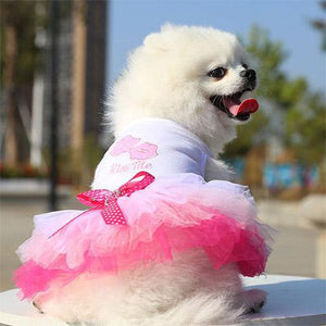 Pet Dog Cat Princess Dress
