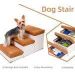 Load image into Gallery viewer, Foldable Pet Stairs Dog 3 Steps Storage Box