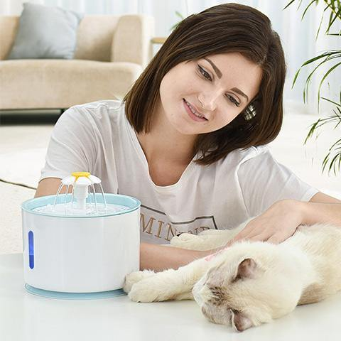 Cat Dog Pet Drinking Feeding  Smart Fountain Waterer
