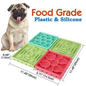 4 In 1 Dog Slow Feeder eating food plate with Suction Cups