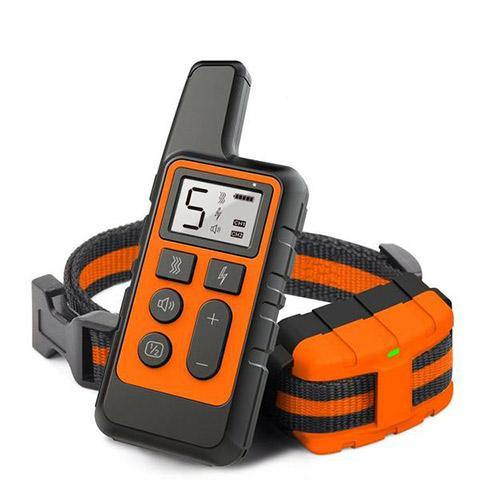 500m Remote Control Dog Training Shock Collar Rechargeable & Waterproof in Beep, Vibration, Static Shock
