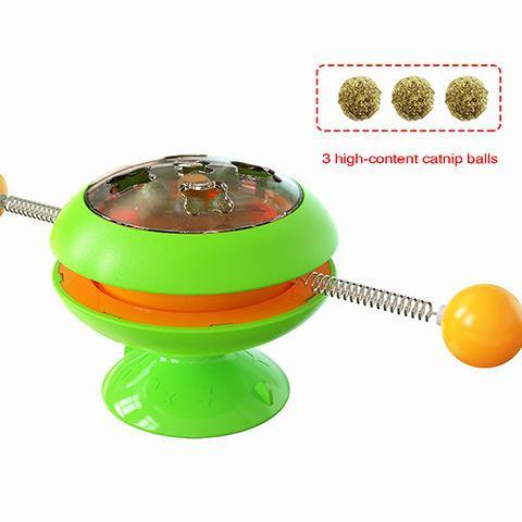 Funny Cat Stick Mint balls Turntable Toy