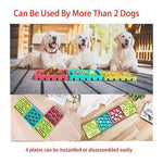 Load image into Gallery viewer, 4 In 1 Dog Slow Feeder eating food plate with Suction Cups
