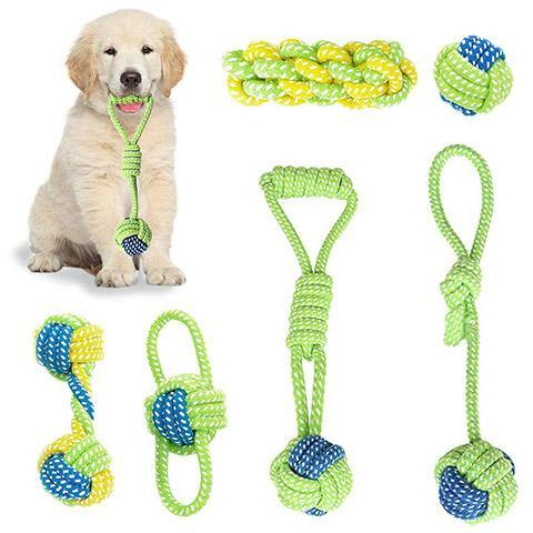 Pet Dog Molar Rope Chewing Knot Toys