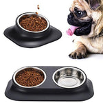 Load image into Gallery viewer, SIngle and Double Dog Cat Bowls Premium Stainless Steel  pet bowl