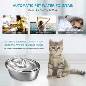 Automatic Pet Water Fountain Cat or Dog Water Dispenser 2L