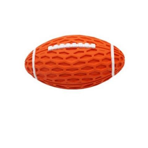 Squeaky Dog Rubber Rugby Chew Toy