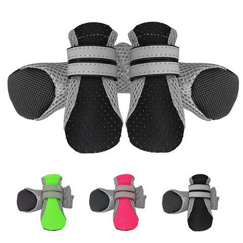 Breathable Mesh Dog Nonslip Boots with Reflective Straps