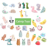 Load image into Gallery viewer, Catnip Cat Toys for Indoor Cats Kitty Plush Chew Toys