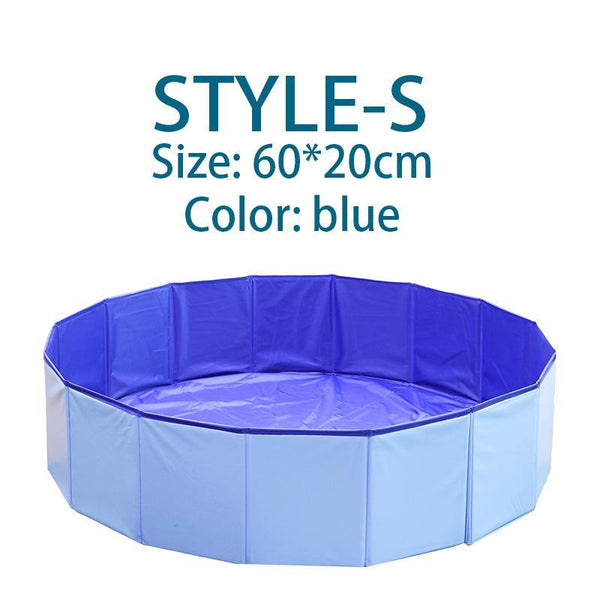 Foldable Pet Bath Pool for Dogs Cats - Collapsible & Leakproof Dog Pool Bathing Tub
