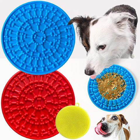 Dog Lick Mat with Scrub Pad and Strong Suction