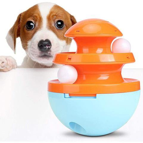 Dog Slow Feeder Bowl Interactive Treat Dispensing Toy