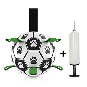 【30% Off】Dog Soccer Ball with Grab Tabs Interactive Dog Trainning Toy
