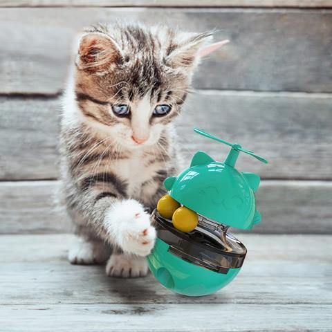 【40% OFF + Buy 2 Get Free Shipping】Interactive Cat Leaking Food Toy Turntable Toy for Pet