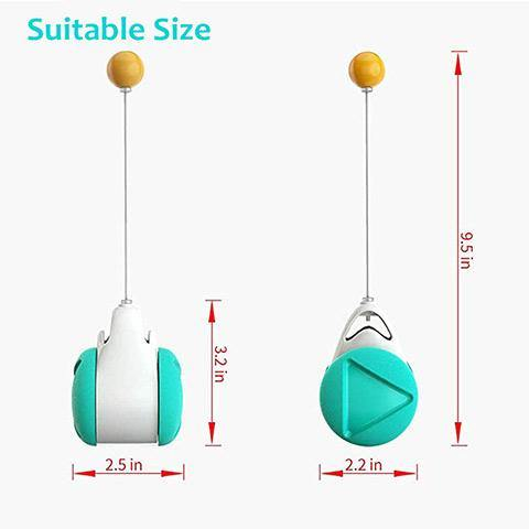 Interactive Cat Toys Catnip Ball Balance Swing Car Toy for Pet