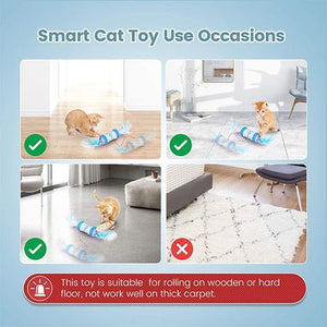 【30% Off + Buy 2 Get Free Shipping】Interactive Colorful Cat Toys Ball with 360° Self-Rotating