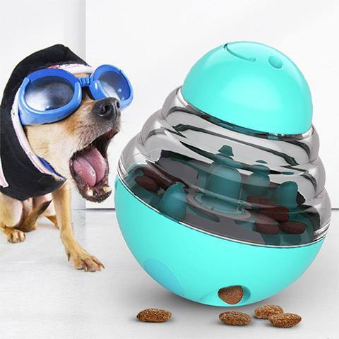 Interactive Dog Tumbler Food Dispenser Ball Toy
