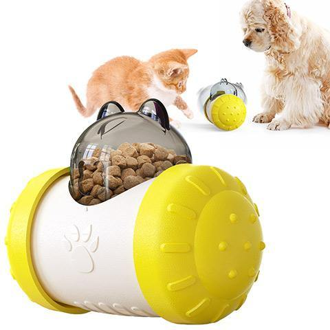 Pet Food Dispensing Toys Swing Bear Interactive Chase Toy