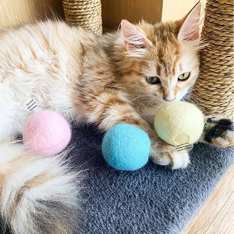 Wool Felt Ball For Cat Automatic Sounding Ball Pet Toys