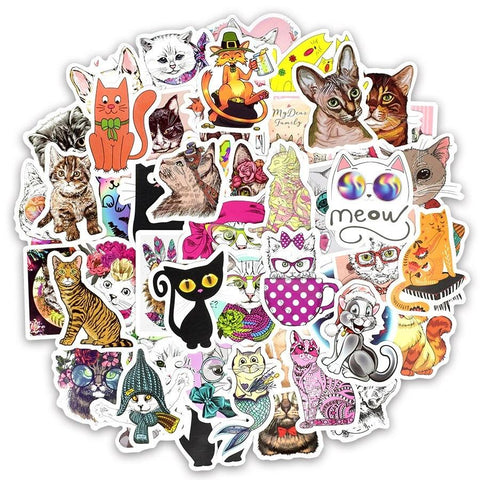 Stickers Vintage Chat
