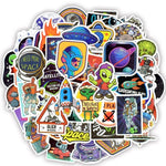 Stickers Vintage Alien