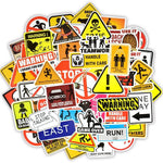 Stickers Vintage Warning