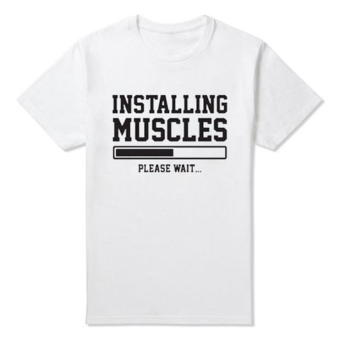 tee shirt vintage installing muscles