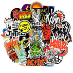 stickers vintage rock roll