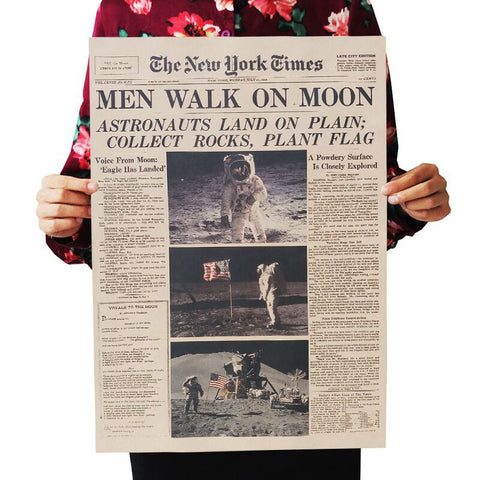 poster men walk on moon