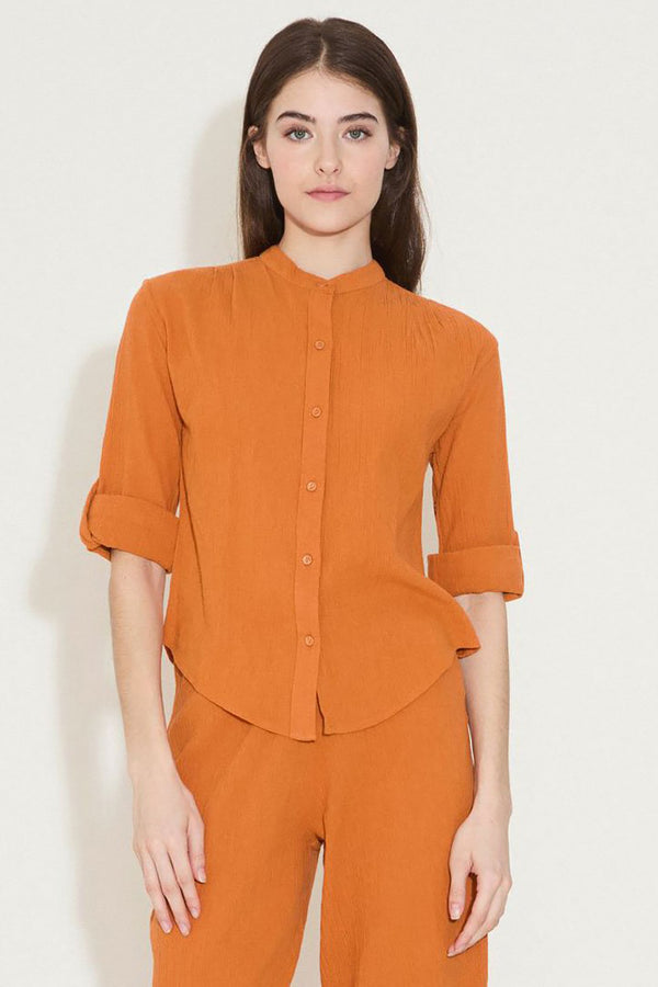 THE BUTTON BLOUSE IN MESA GAUZE